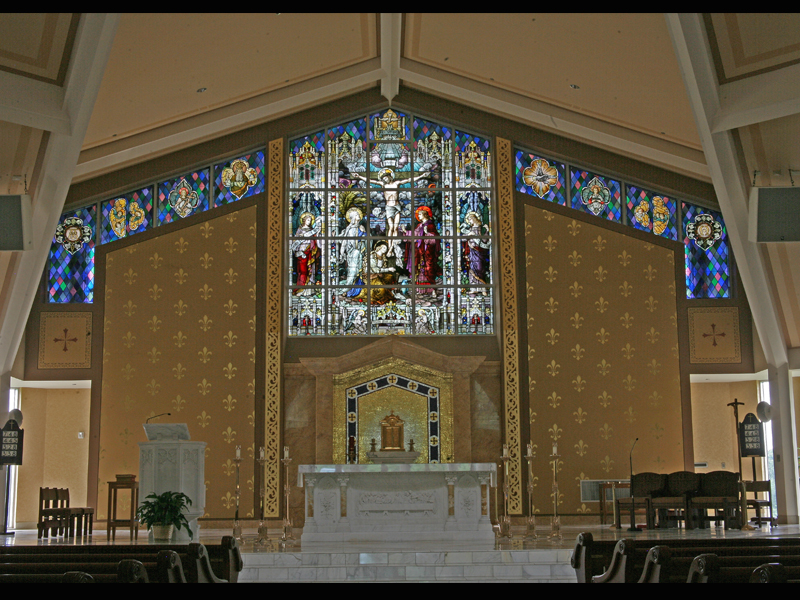 Stained Glass by Beyer Studio for St Joseph's Church
