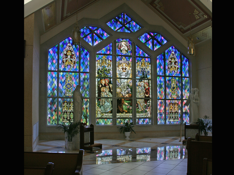Stained Glass by Beyer Studio of The Annuciation