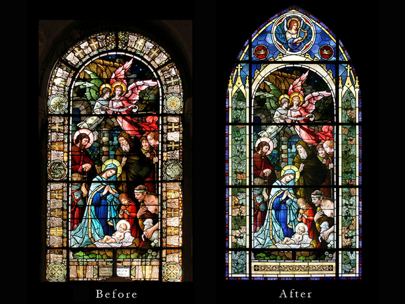 Stained Glass by Beyer Studio for St. Margaret Queen of Scotland