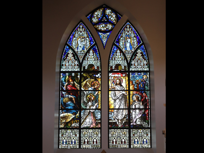 Stained Glass by Beyer Studio for Christendom College Christ the King Chapel